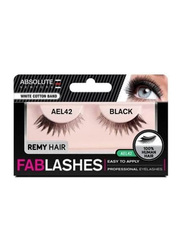 Absolute New York Fabulashes Underlash Human Hair False Eyelashes, AEL42, Black