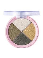 Pretty By Flormar Quartet Eye Shadow, 8gm, 005 Greens Forever, Green