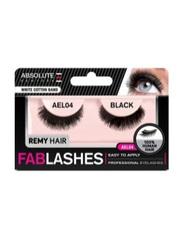 Absolute New York Fabulashes Regular Human Hair False Eyelashes, AEL04, Black