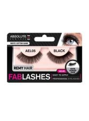 Absolute New York Fabulashes Regular Human Hair False Eyelashes, AEL05, Black