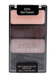 Wet N Wild Trio Eyeshadow, 3.5gm, E335 Silent Treatment, Multicolor