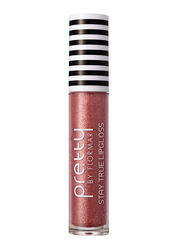 Pretty By Flormar Stay True Lip Gloss, 6ml, 017 Rose Gold, Pink