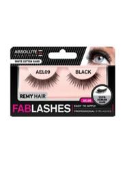 Absolute New York Fabulashes Regular Human Hair False Eyelashes, AEL09, Black