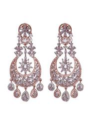Glam Jewels The Chandelier Dangle Earrings for Women, Rose Gold