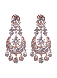 Glam Jewels The Chandelier Dangle Earrings for Women, Rose Gold