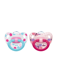 Nuk Happy Days Silicone Soother 18-36 Months, 2 Piece, Pink
