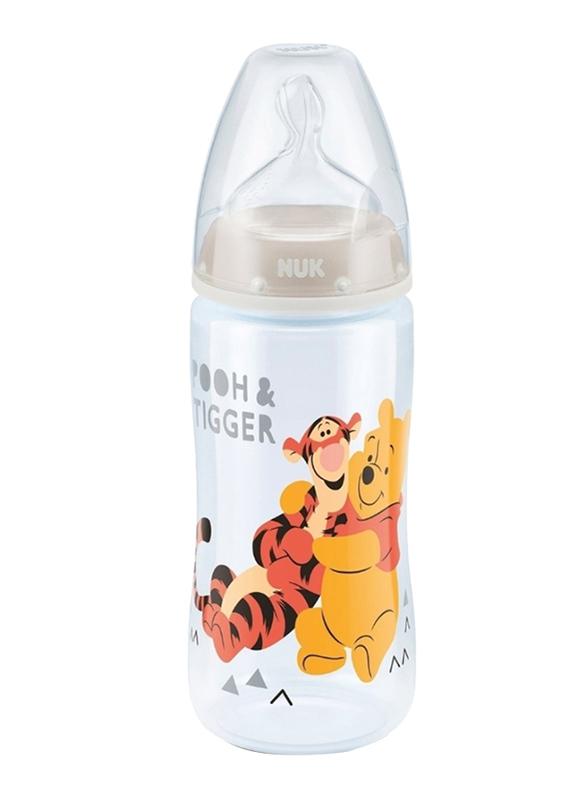 Nuk First Choice Plus Disney Winnie the Pooh Baby Bottle, 0-6 Months 300ml, White