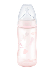 Nuk First Choice Plus Bottle 300Ml with Teat, Baby Rose