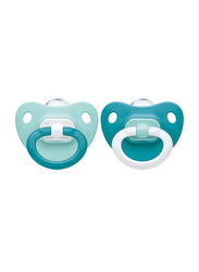 Nuk Fashion Silicon Soother 0-6 Months, Pack of 2, Blue