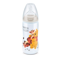Nuk First Choice Plus Disney Winnie the Pooh Baby Bottle, 0-6 Months 300ml, White