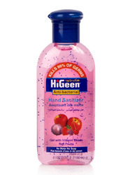 HiGeen Vitamin Beads Red Fruits Anti-Bacterial Hand Sanitizer Gel, 110ml
