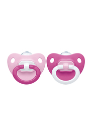 Nuk Fashion Silicon Soother, 6-18Months, Pack of 2, Pink