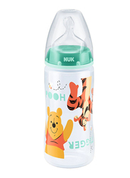 Nuk First Choice Plus Disney Winnie the Pooh Baby Bottle, 0-6 Months 300ml, Green
