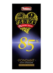 Torras Gluten Free Zero 85% Dark Chocolate Tablet Bar, 100g