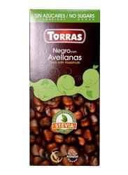 Torras Sugar Free Dark and Hazelnut Chocolate Tablet Bar, 25g