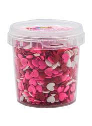 DeliketHeart Shape Sprinkles for Bakery Cake & Ice Cream Decoration, Pink Red & White, 80g