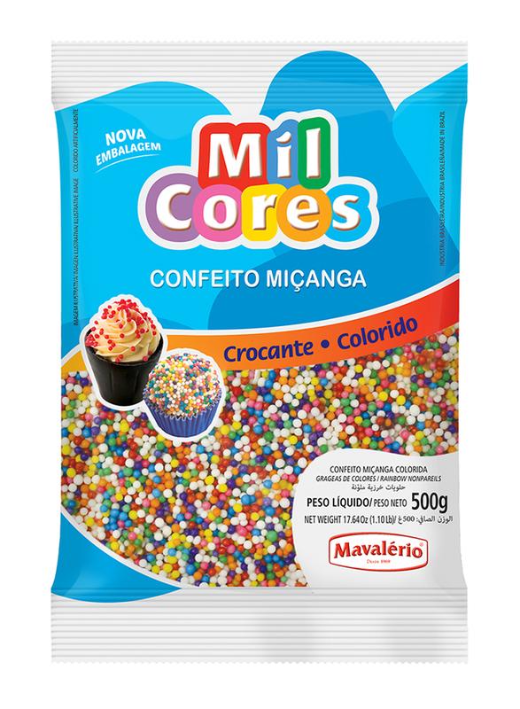 Mavalerio Mil Cores Rainbow Non Pareils, 500g
