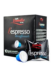 Caffe Trombetta L'Espresso Decaffeinated Coffee, 10 Capsules, 55g