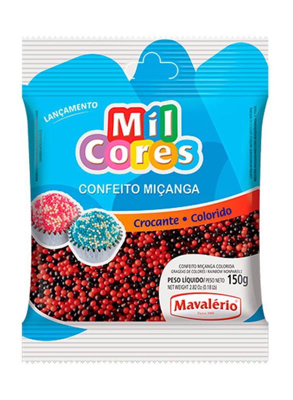 Mavalerio Mil Cores Black and Red Pareils Food Decorative, 150g