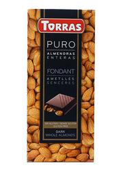 Torras Gluten Free Dark and Whole Almond Tablet Bar, 200g