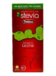 Torras Sugar Free Stevia Milk Chocolate Bar, 100g
