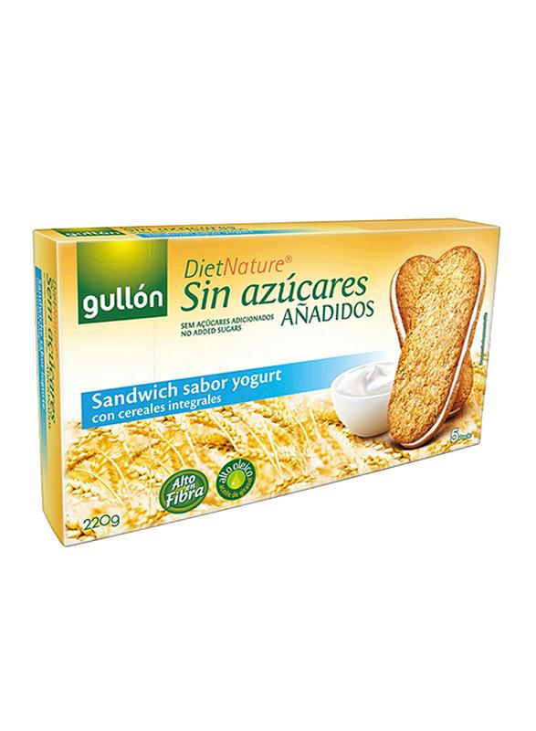 Gullon Diet Nature Yogurt Sugar Free Sandwich Biscuits, 220g