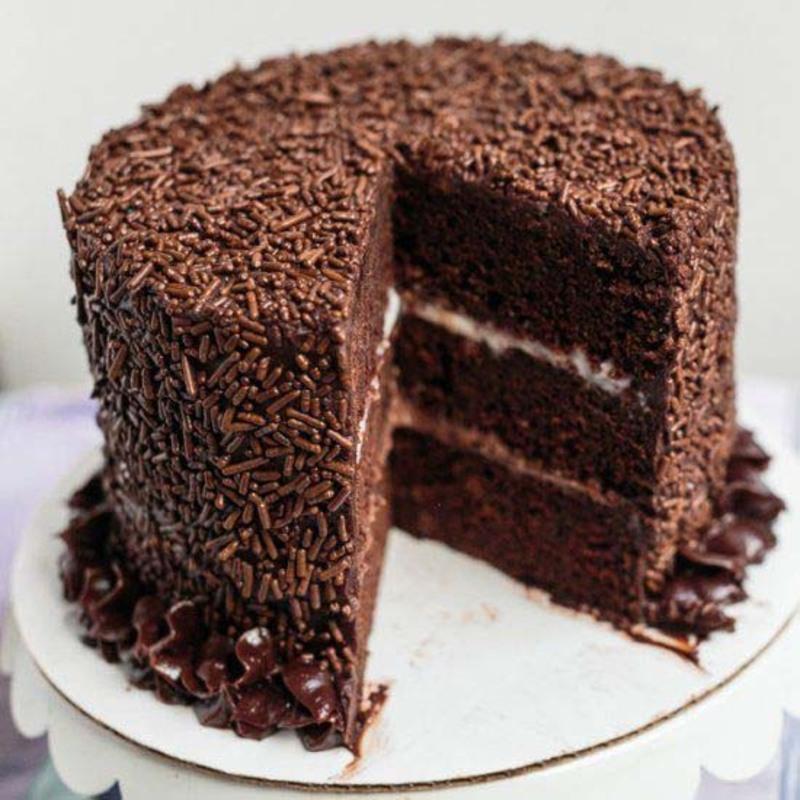 Jazam Chocomais Dark Chocolate Soft Sprinkles Bakery Cake & Ice Cream Decoration, 500g
