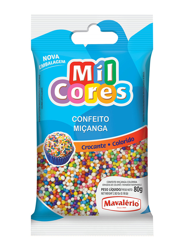 Mavalerio Mil Cores Rainbow Non Pareils, 80g