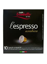 Caffe Trombetta L'Espresso Arabica Coffee, 10 Capsules, 55g