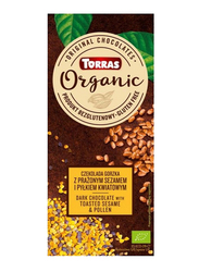 Torras Organic Dark Chocolate With Toasted Sesame and Polen, 100g