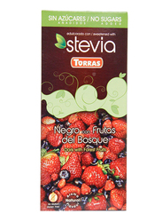 Torras Sugar Free Dark and Forest Fruits Chocolate Tablet Bar, 125g