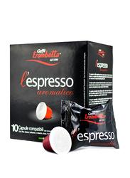 Caffe Trombetta L'Espresso Aromatico Box Coffee, 10 Capsules, 55g
