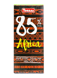Torras Sugar Free Dark 85% Cocoa Tablet Bar, 100g