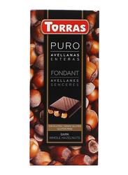 Torras Gluten Free Dark and Whole Hazelnut Tablet Bar, 200g