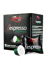 Caffe Trombetta L'Espresso Piu Cream Coffee, 10 Capsules, 55g