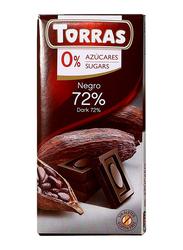 Torras Sugar Free 72% Cocoa Dark Chocolate Tablet Bar, 75g