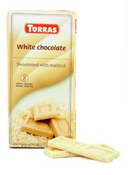 Torras Sugar Free White Chocolate Tablet Bar, 75g