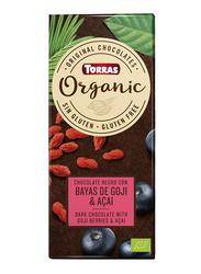 Torras Organic Dark Chocolate With Goji Beans and Acai, 100g