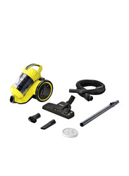 Karcher VC 3 Plus Bagless Cyclonic Canister Vacuum Cleaner, Yellow/White
