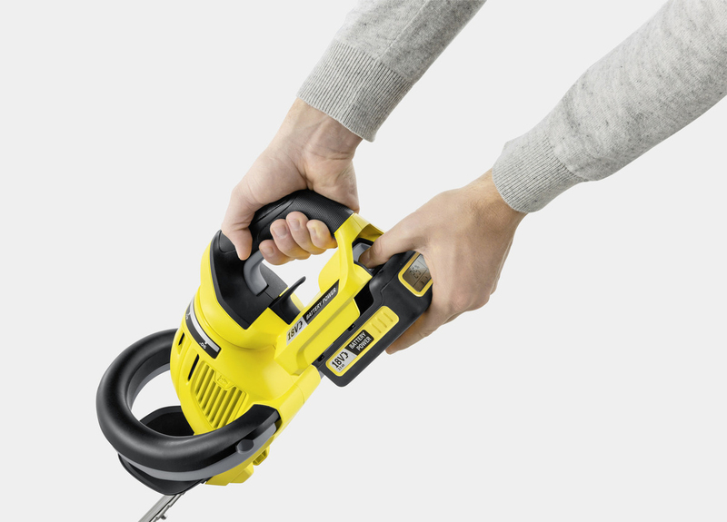 Karcher HGE 18-50 Battery Hedge Trimmer, Black/Yellow
