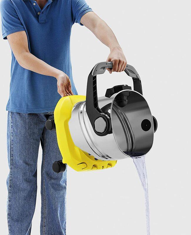 Karcher 1100W Wet & Dry Vacuum Cleaner, 25L, WD 5 Premium, Yellow/Sliver/Black