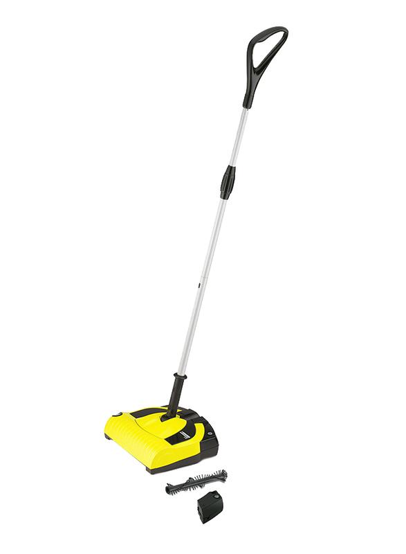 Karcher Cordless Electric Broom, 0.5L, K 55 SA, Yellow/Sliver/Black
