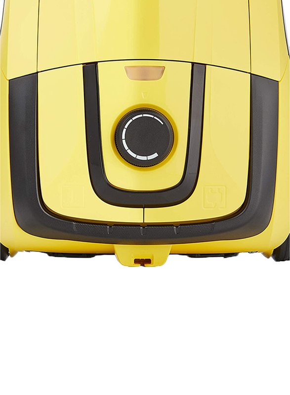 Karcher 1100W Canister Vacuum Cleaner with Dust Bag, 2.8L, VC 2, Yellow