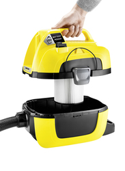 Karcher WD 1 Compact Battery Canister Vacuum Cleaner, Black/Yellow