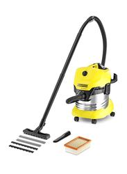 Karcher WD4 Premium Wet & Dry Vacuum Cleaner, 20L, Yellow/Black