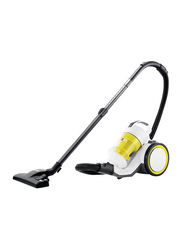 Karcher VC 3 Premium Plus Bagless Cyclonic Canister Vacuum Cleaner, Yellow/White