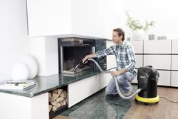 Karcher AD 3 Premium Ash Fireplace Dry Vacuum, Yellow/Black