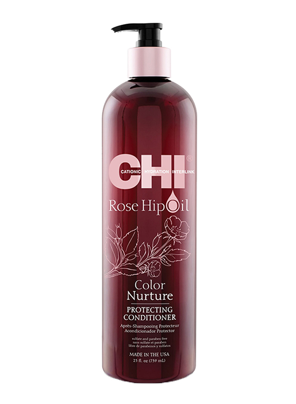 CHI Rosehip Oil 2 in 1 Protecting Conditioner for Coloured Hair, 739ml