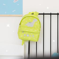 A little Lovely Company Brontosaurus Mini Backpack Bag for Boys, Green