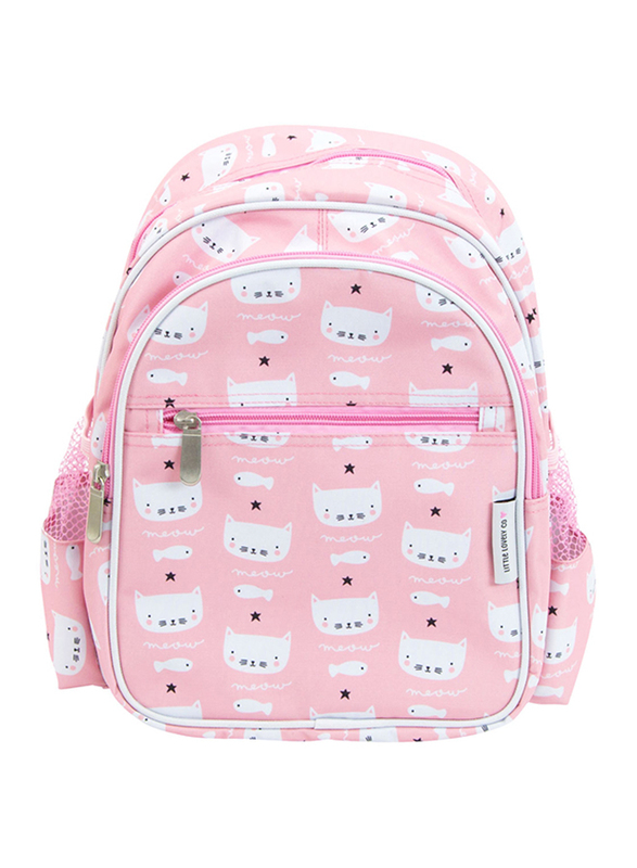 A Little Lovely Company Cats Backpack Bag for Girls, Pink